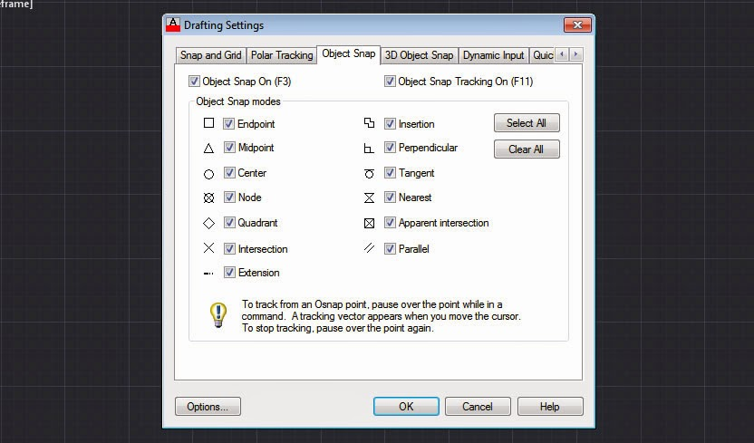 AutoCAD Object Snaps