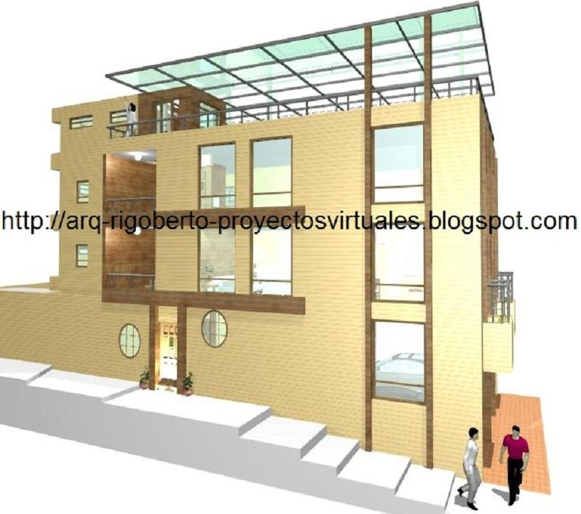 Proyectos virtuales dise o de casa habitaci n en 3d arq rigoberto s nchez l pez - Diseno de casa en 3d ...