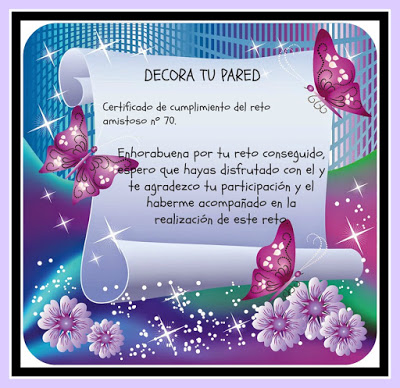 Certificado de cumplimiento nº 70