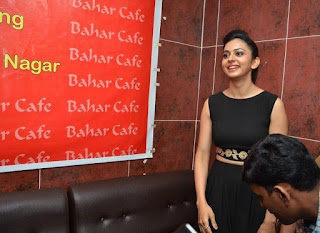 Rakul preeth singh photos at bahar cafe restaurant