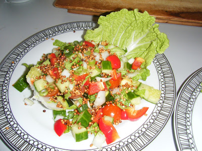 roast courgette toasted buckwheat salad