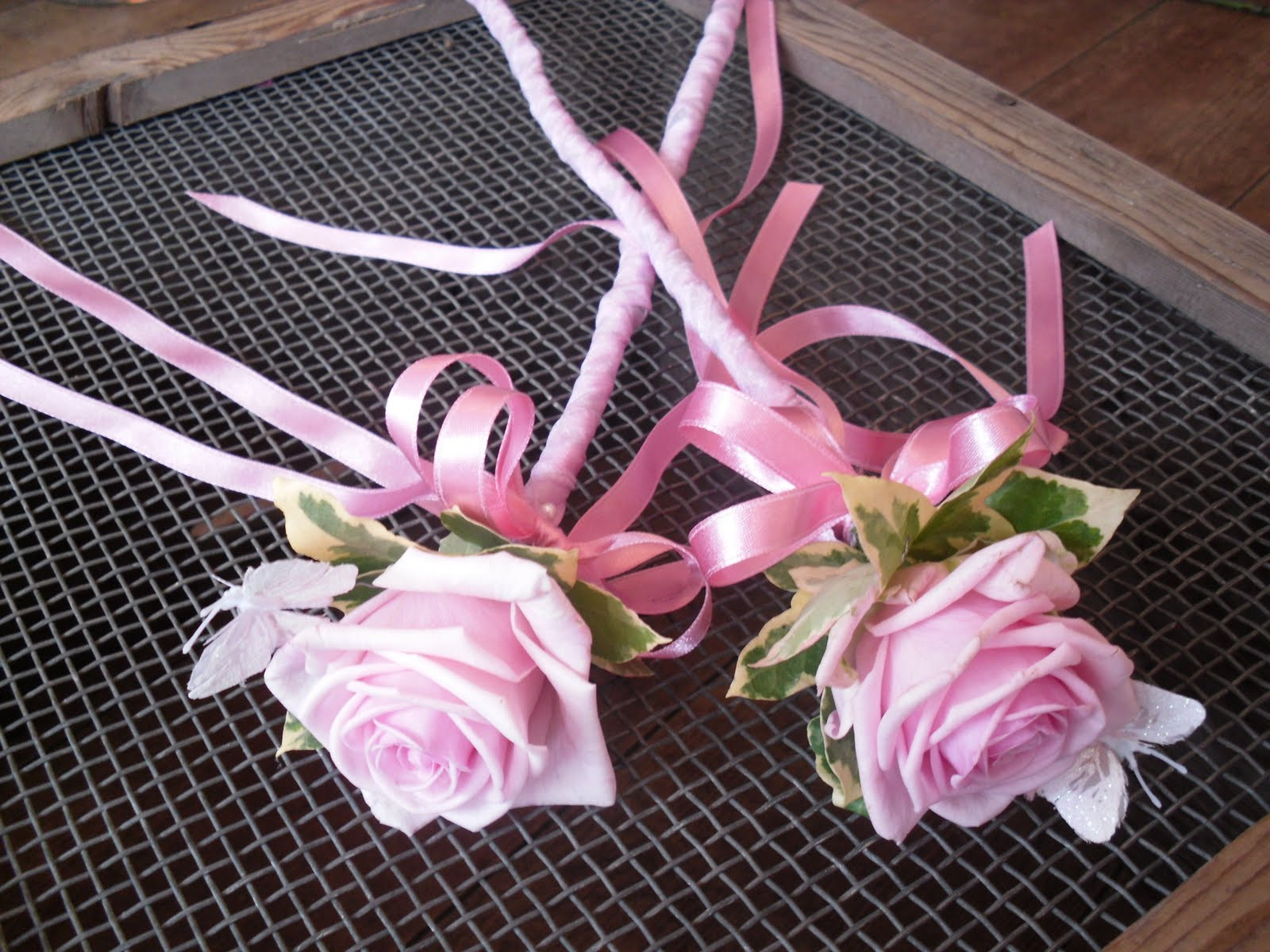 Flowers in bloom wedding of emma rich 5th august for Flower wand