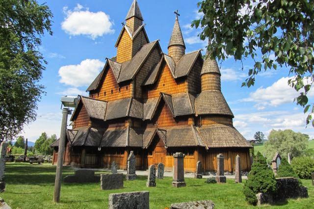 Noorwegen staafkerk Heddal