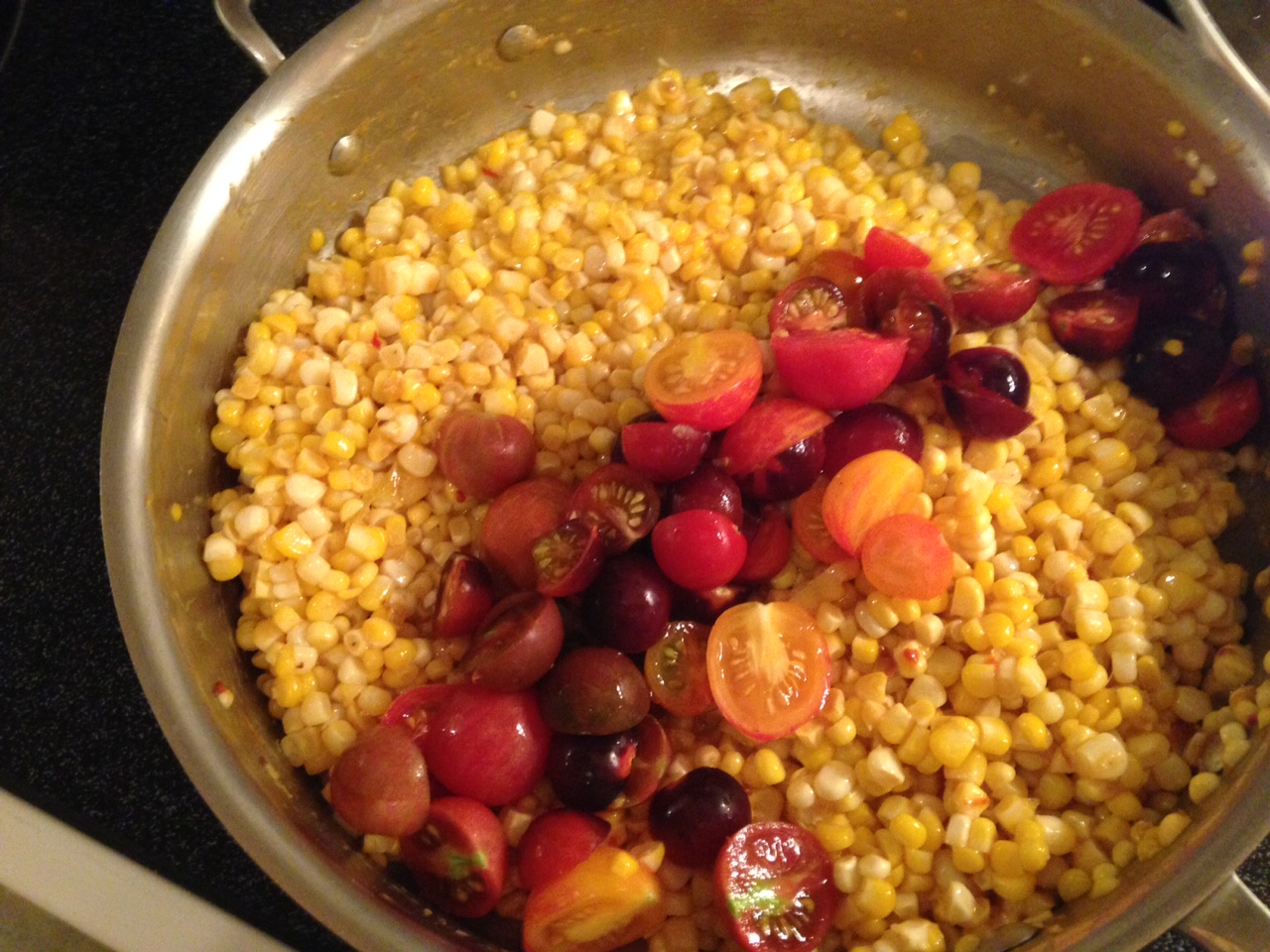 corn salad with avocado dressing tomato and corn salad with marjoram ...