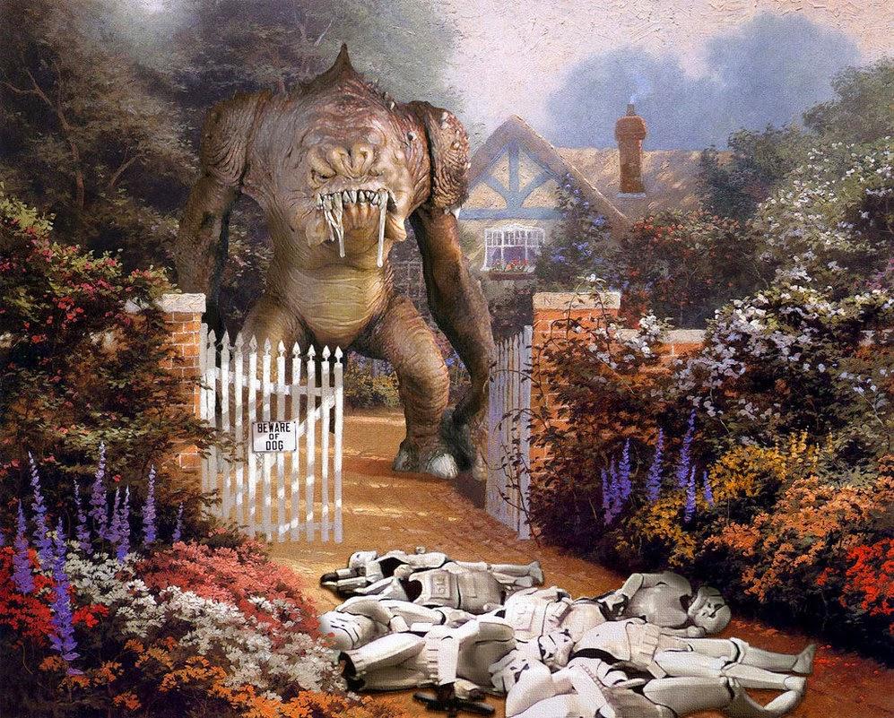 06-Jeff-Bennett-Thomas-Kinkade-Star-Wars-on-Kinkade-Paintings-www-designstack-co
