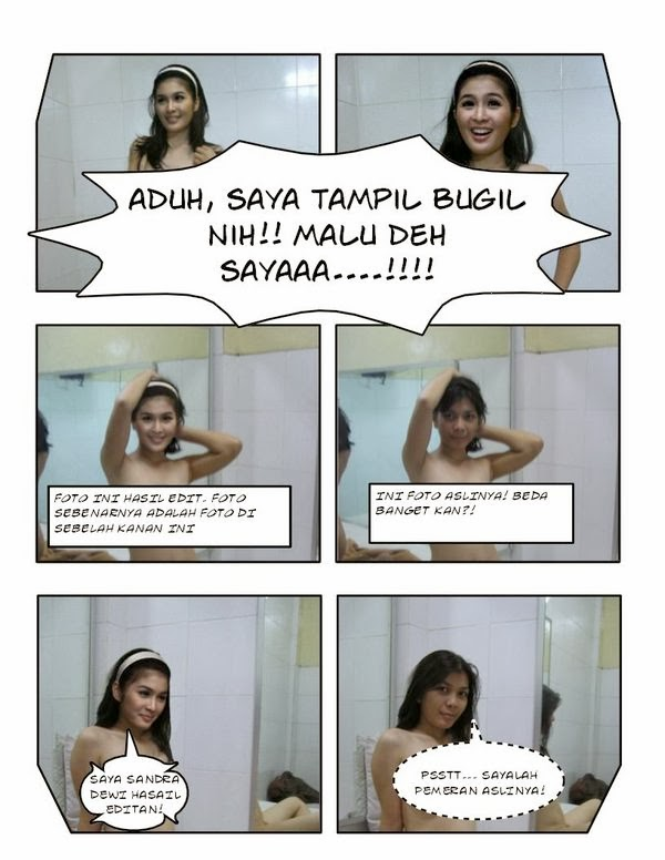 Contoh: Foto bugil mirip Sandra Dewi