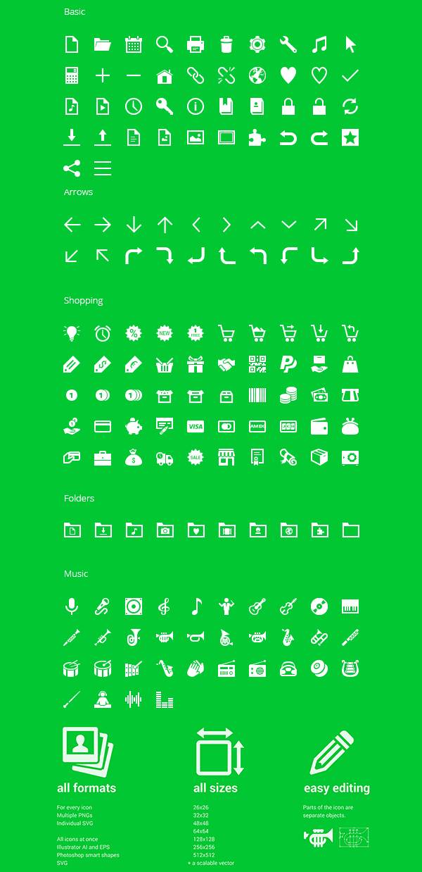 350 Free Android Icons