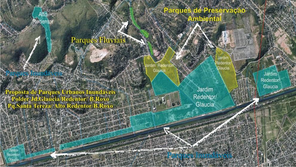 Área prevista para Reservatório Pulmão no Bairro Jd.Glaúcia /Redentor.