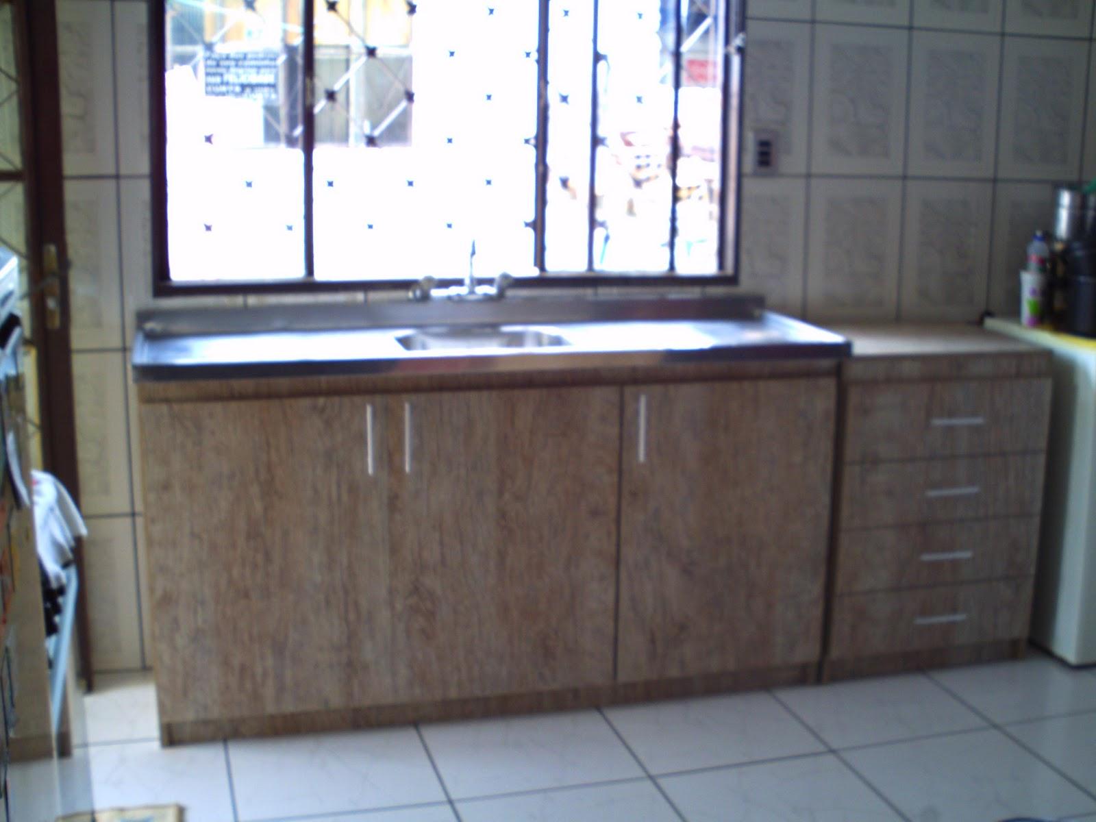 Oficina de Marcenaria: Balcão de cozinha padrâo canion rustico. #3E638D 1600 1200