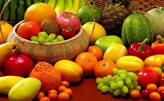 sayuran dan buah-buahan segar