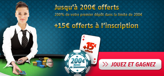 PMU Poker, offre de bienvenue