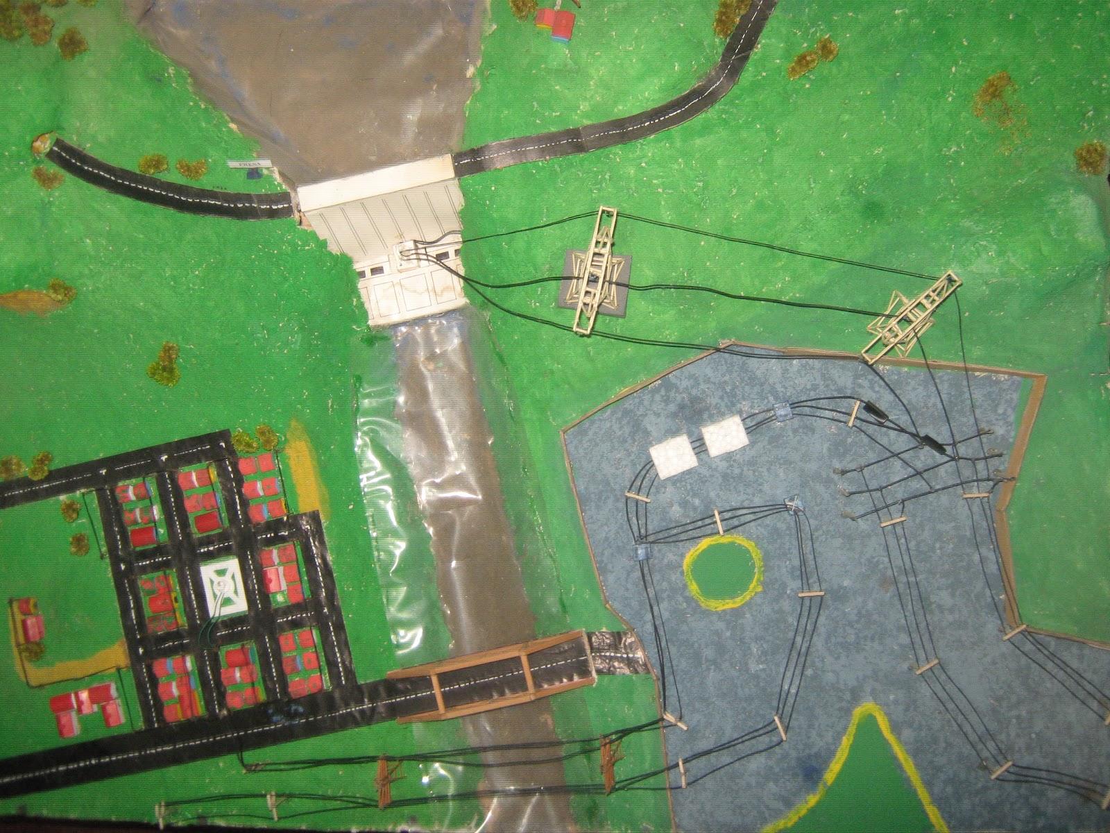 Maquetas creativas maqueta presa el ctrica central for Como hacer una laguna