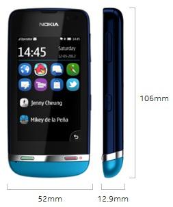 Nokia Asha 311 Full Touch 3G + WiFi Harga Rp 900 Ribuan