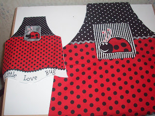 matching Doll and girl aprons