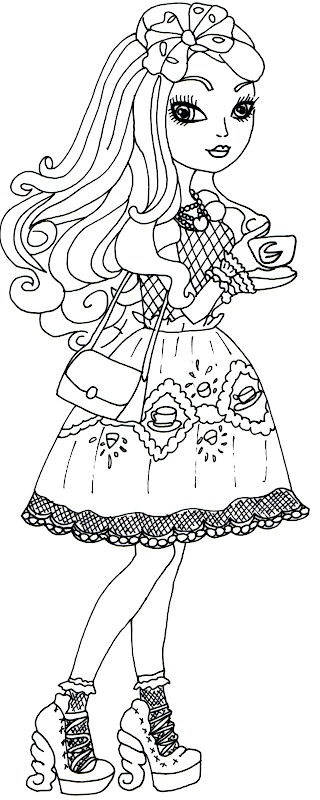 Apple White Hat-Tastic Ever After High Coloring Page title=