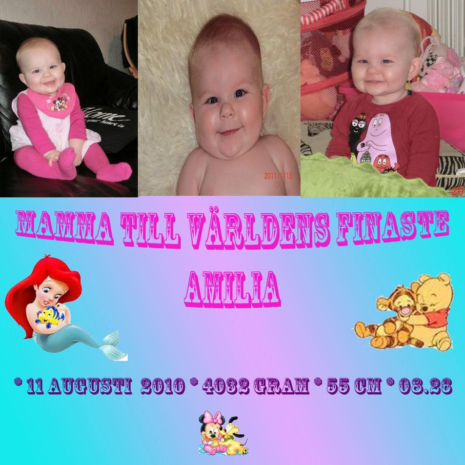 Mamma till världens bästa Amilia♥