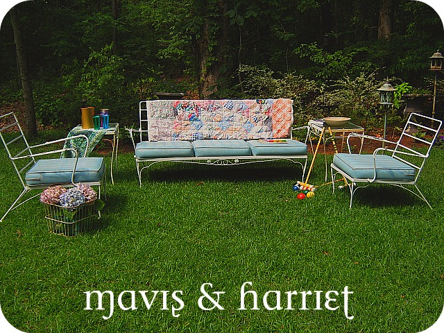 Mavis Harriet Vintage Patio Furniture Sofa Chair Tables