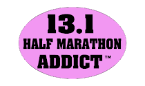 Half Marathon Addict Sticker