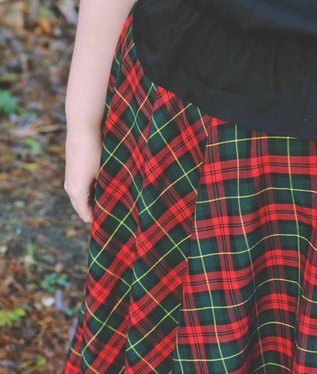 Christmas tartan skirt