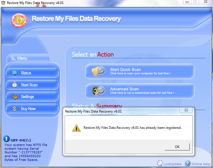 Restore My Files Data Recovery v6.01.rar