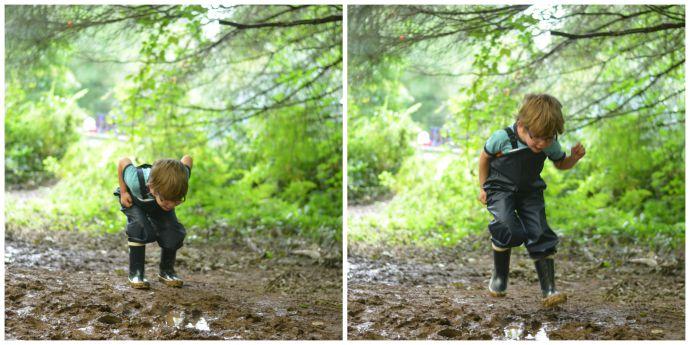 helly hansen, forest school, muddy puddles,