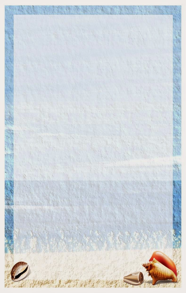 Beachy letterhead for the summer - www.LifeinRandomBits.com