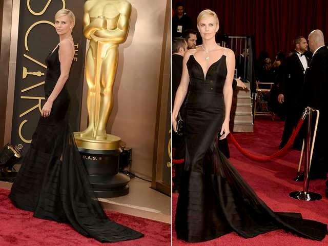 Vestido preto, longo sereia de celebridade - Oscar/2014