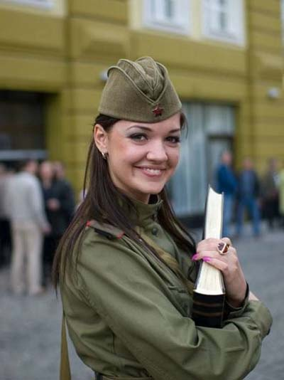 cute girl soldier