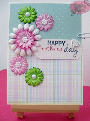 2-Fold Mother's Day Card with Mulberry Daisies