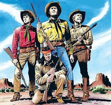 Dibujo de Tex y amigos