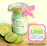 Mint Lime Foot Soak +Pretty Printable Label