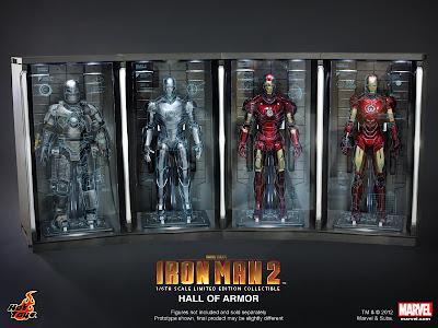 Hot Toys Iron Man Hall of Armor Diorama Display