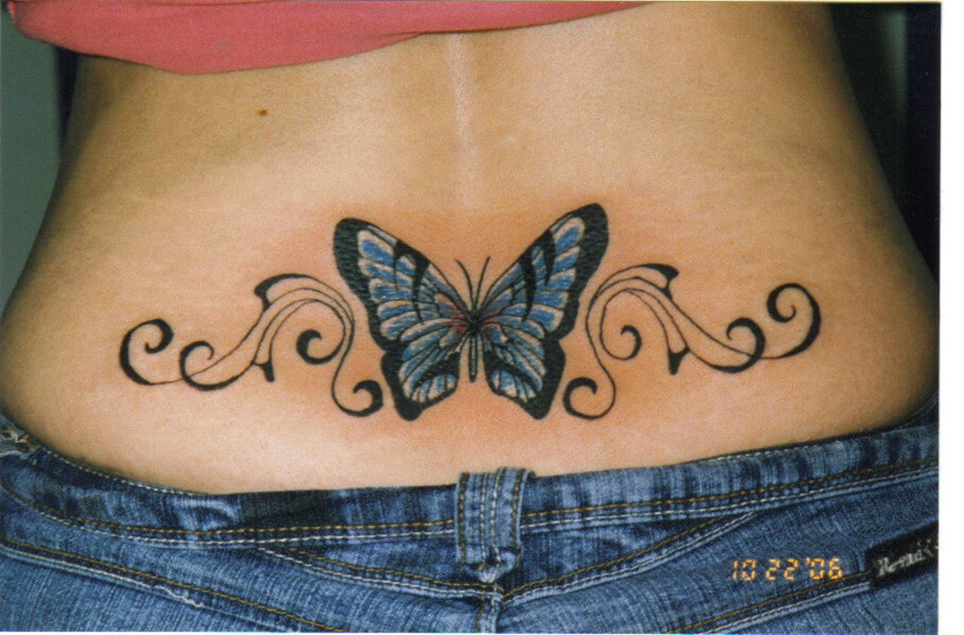 Cute back butterfly tattoos for girls best tattoo pictures for Cute butterfly tattoos