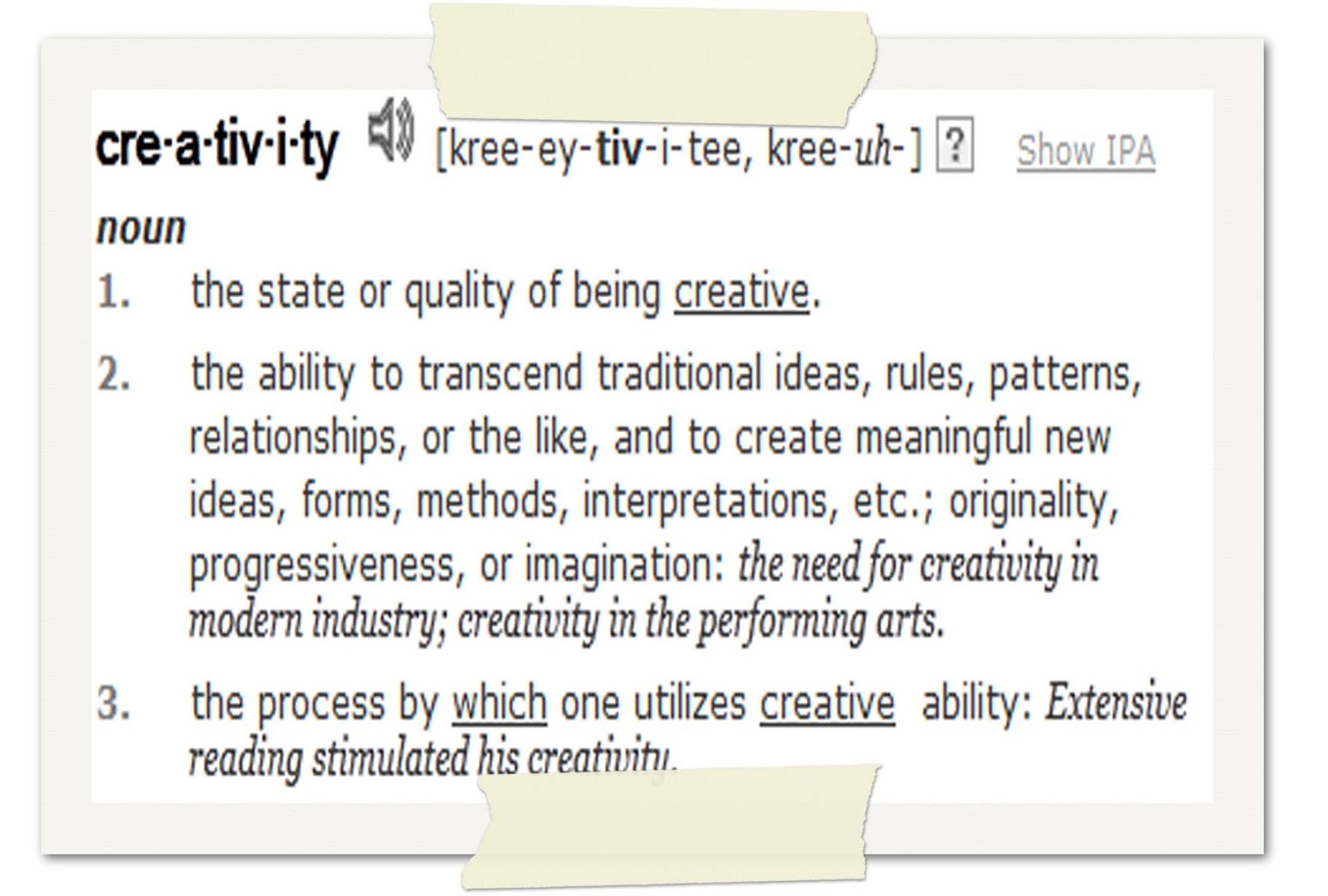 define creative writing