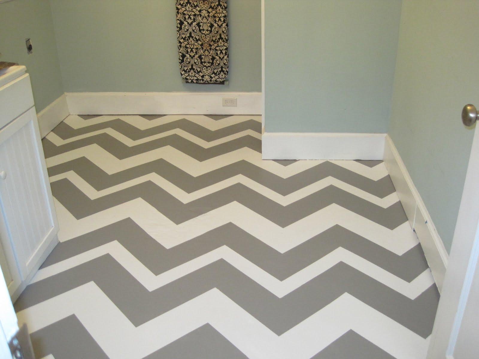 Painted Concrete Floor In Laundry Room Basement Mud Room