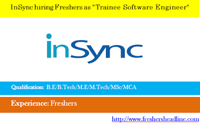 "InSync hiring Freshers as ""Trainee Software Engineer"""
