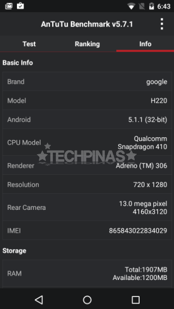 Cherry Mobile G1 Antutu Benchmark Score