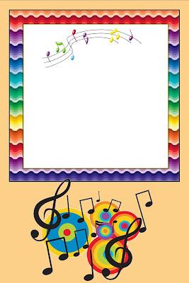 Notas Musicais     Kit Completo   Molduras Para Convites  R  Tulos