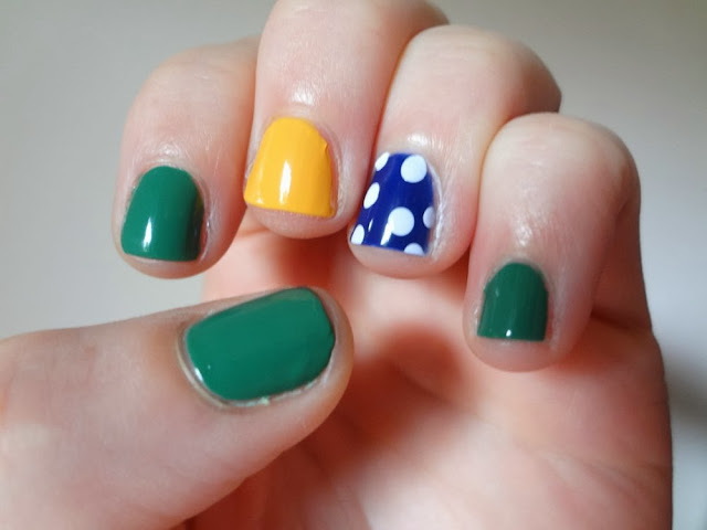Nail Polish: Jewel Tone Nails, Emerald, Sapphire, Topaz, Polka Dots
