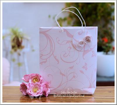 Pink, blossom, bag