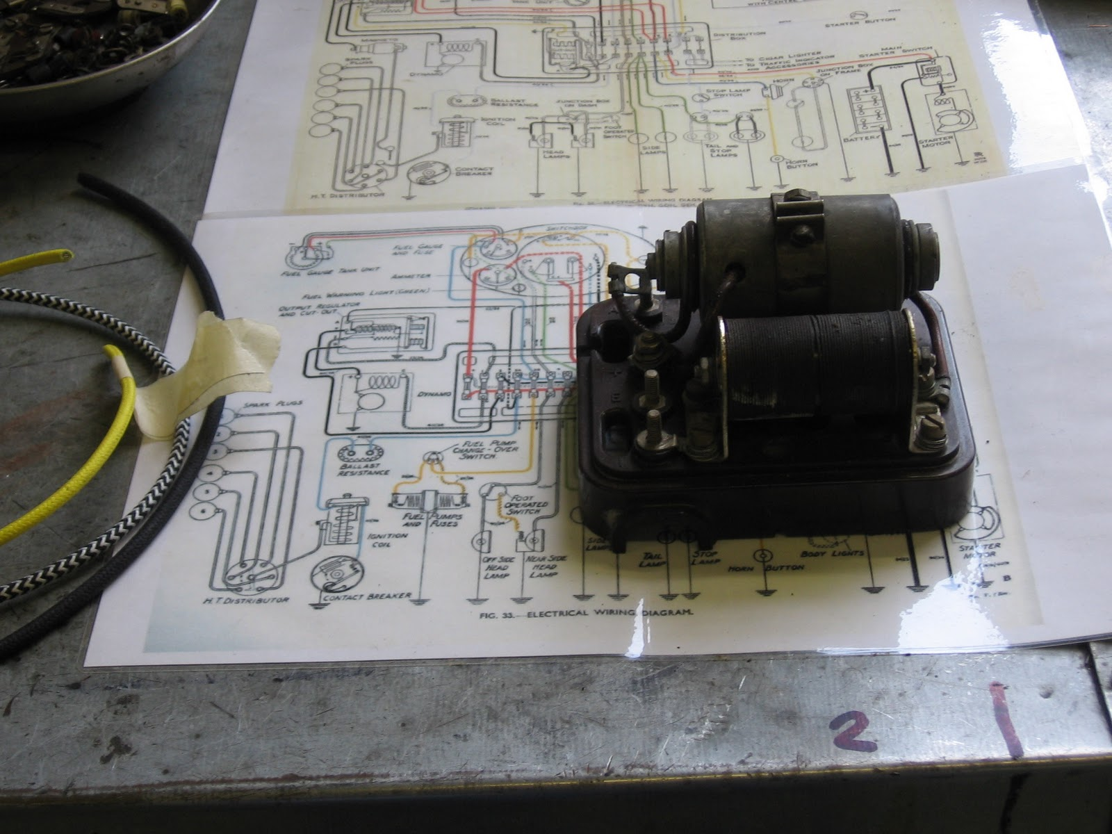Milford vintage engineering ltd derby bentley 4 14 re wire wiring diagrams with control box as the work progresses swarovskicordoba Images