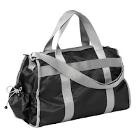 Style Athletics Old Navy Black Gray Gym Bag
