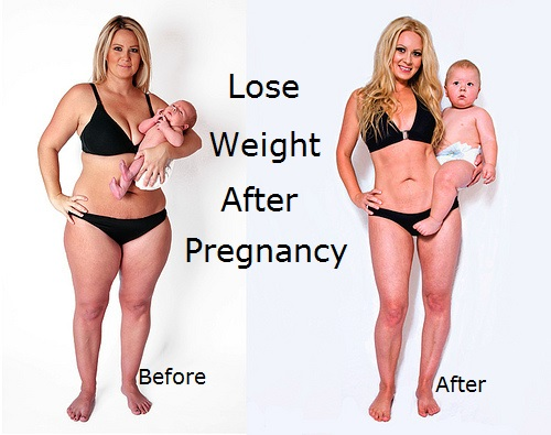 How long lose weight after c section