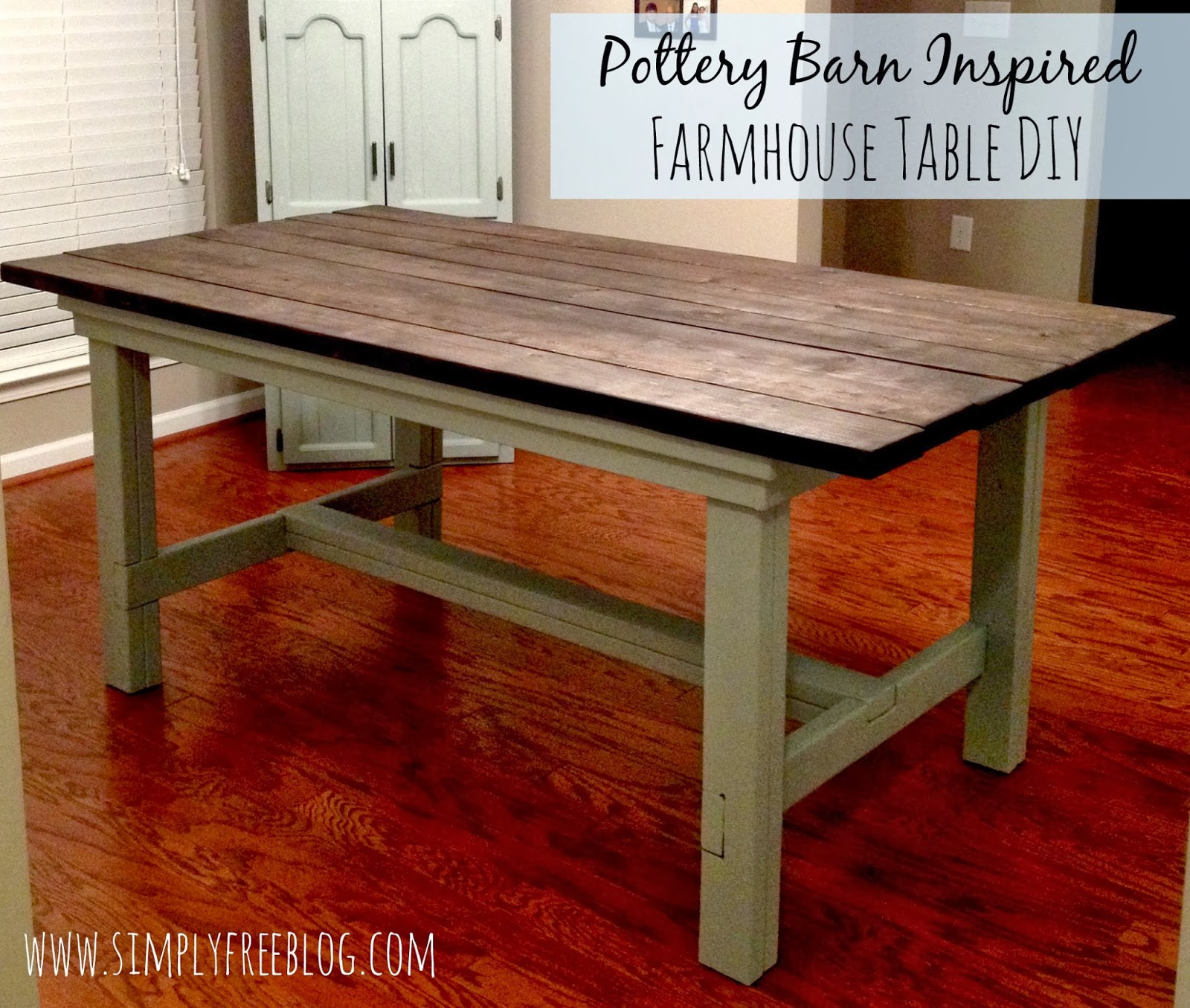 Pottery barn inspired farmhouse table diy simply elliott Diy farmhouse table