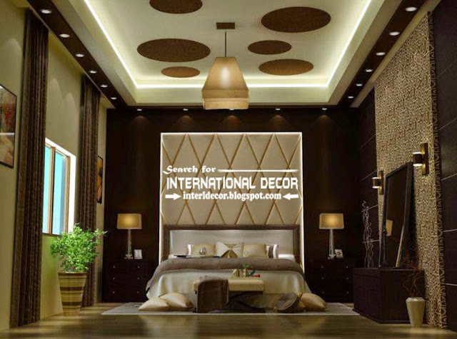 Modern pop false ceiling designs for luxury bedroom 2015, bedroom ceiling ideas