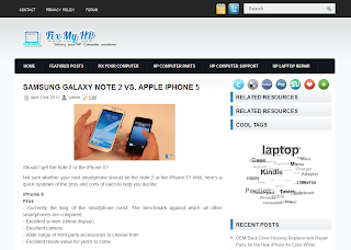 Screenshot of FixMyHP.com