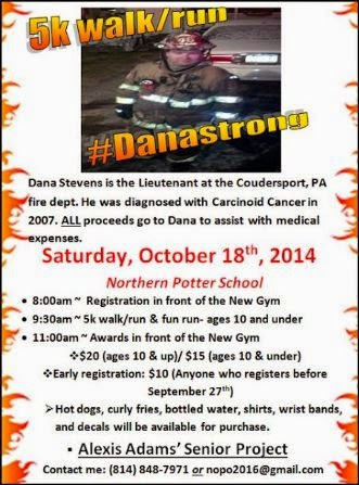 10-18 5K Walk To Benefit Dana Stevens