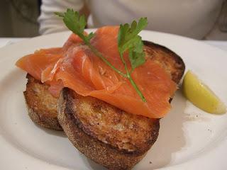 Smoked Salmon on Sourdough Toast