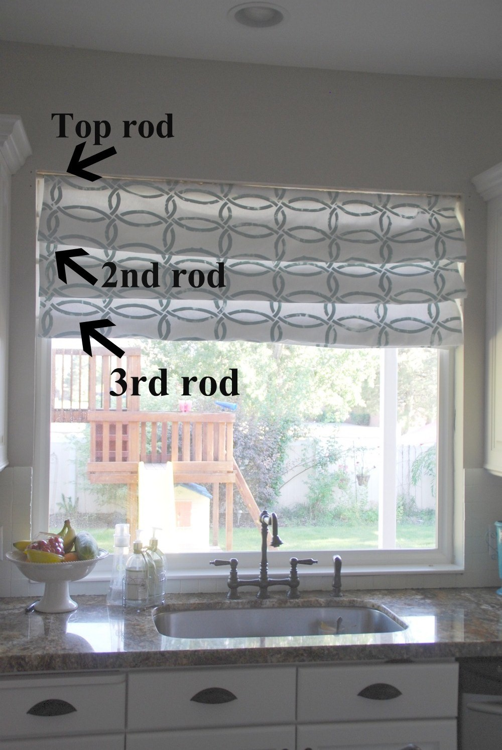 Roman curtain for Roman shades for kitchen windows