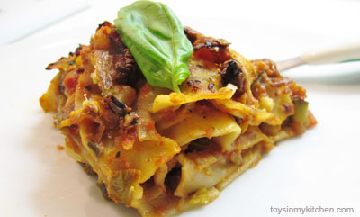 Vegetable Lasagne - A healthy family recipe